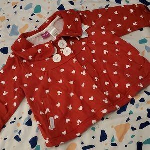 Disney 2t Minnie mouse sweater blazer
